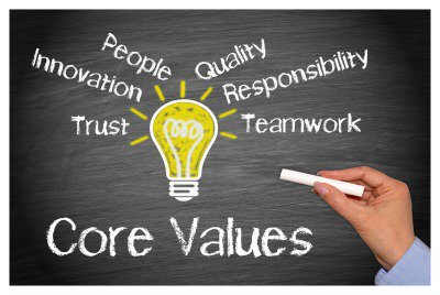 Make Your Core Values Known!