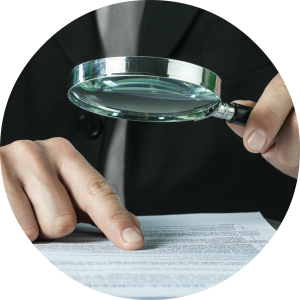 magnifying glass round
