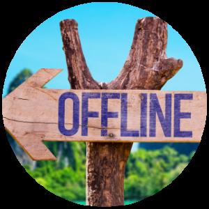 Offline circle